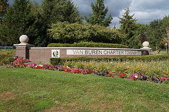Van Buren Township, Michigan - Welcome sign to Van Buren Charter Township