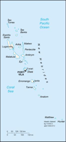 Kaart van Vanuatu