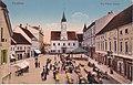 Varasd főtere 1910 körül régi képeslapon.jpg