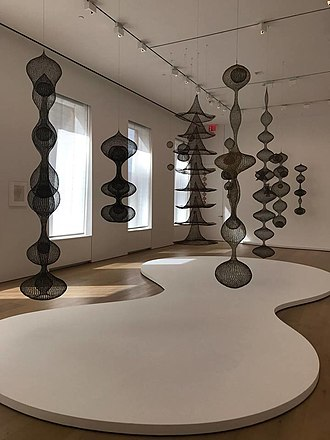 Ruth Asawa - Ruth Asawa's sculptures displayed at the David Zwirner gallery in NYC.