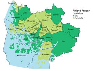 Municipalities of Finland Proper - Image: Varsinaissuomi en
