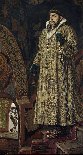 Ivan the Terrible - Portrait of Ivan IV by Viktor Vasnetsov, 1897 (Tretyakov Gallery, Moscow)