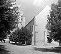 Vasvár 1952, Bartók Béla utca, domonkos templom. Fortepan 15108.jpg