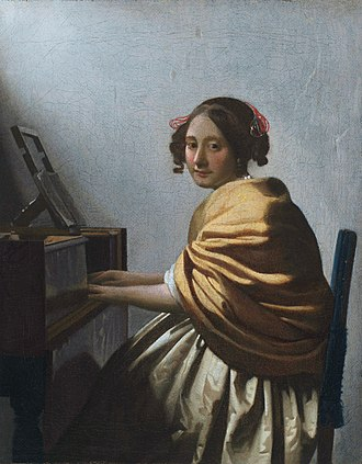 Young Woman Seated at a Virginal - A Young Woman Seated at the Virginals at the Metropolitan Museum of Art in New York