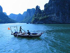 Fishing boat Halong Bay, Vietnam