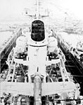 View forward from the mainmast of the German heavy cruiser Prinz Eugen in 1945.jpg