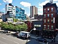 View from High Line Park to Artichoke Basille's Pizza - panoramio.jpg