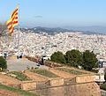View from Montjuïc Castle in Barcelona Spain in January 2015.jpg