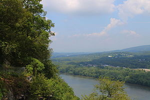 Northumberland County, Pennsylvania - View looking northeast from the Shikellamy State Park overlook
