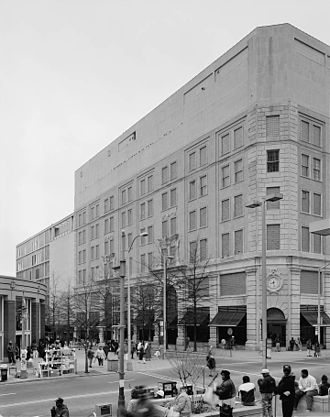 Rich's (department store) - East side of 1924 store, from northeast looking southwest