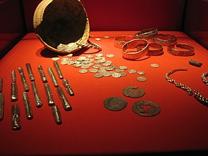 Rijksmuseum van Oudheden - A hoard of silver Viking treasure now located in the Rijksmuseum van Oudheden.
