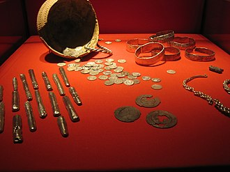 Rijksmuseum van Oudheden - A hoard of silver Viking treasure now located in the Rijksmuseum van Oudheden.