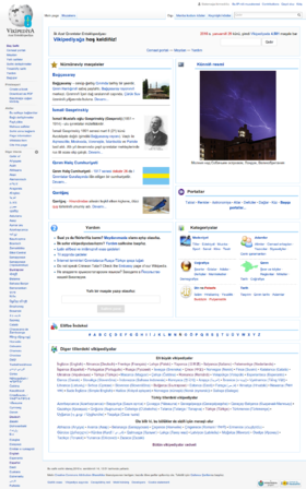 The Main Page of the Crimean Tatar Wikipedia on January 30th, 2015