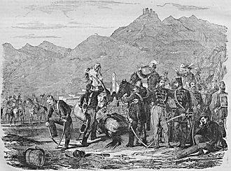 """Surrender at Világos - Surrender at Világos (Vasárnapi Újság (""""Sunday News""""), 15 August 1869)"""