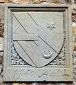 Villa il palagio di san casciano, cortile, stemma corsini e miniati, 1560.JPG