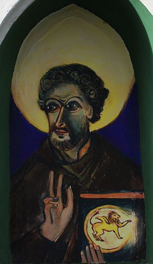 Secret Gospel of Mark - Mark the Evangelist, painting from Villach, Austria