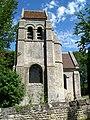 Villeneuve-sur-Verberie (60), hameau de Noël-Saint-Martin, tour et chœur de l'église.jpg