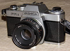Vintage Yashica Electronically Controlled 35mm SLR Camera, Model FR-II, Circa 1977 - 1981 (13367434354).jpg