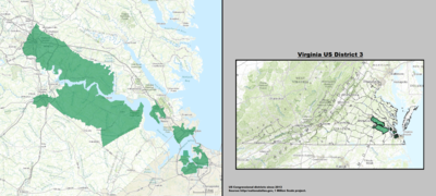 Virginia's 3rd congressional district - since January 3, 2013.