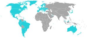 Visa policy of the Kingdom of the Netherlands in the Caribbean - Countries whose nationals can enter Aruba, Curaçao, Sint Maarten and the Caribbean Netherlands without a visa