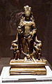 Vishnu with attendants Gadadevi and Chakrapurusha.jpg