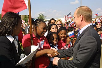 Putin's visit to the United States, November 2001 Vladimir Putin in the United States 13-16 November 2001-22.jpg