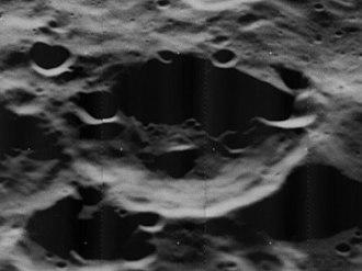 Von der Pahlen (crater) - Oblique Lunar Orbiter 5 image