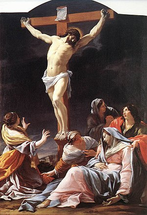 The Crucifixion of Christ by Simon Vouet.