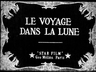 <i>A Trip to the Moon</i> 1902 French black-and-white silent science fiction film directed by Georges Méliès