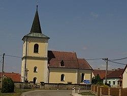Vračovice, kostel svatého Jana Křtitele.JPG