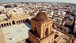 Vue aérienne rapprochée de la Grande Mosquée de Kairouan.jpg