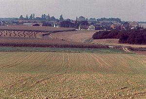 Berchères-Saint-Germain - Image: Vue de la route de Jouy
