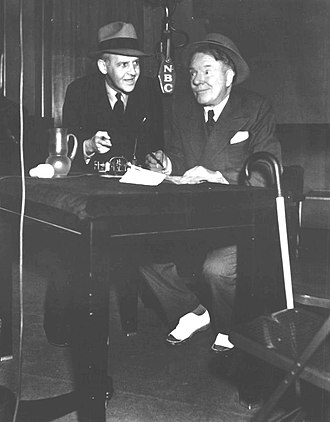 The Chase and Sanborn Hour - The new cast member, W.C. Fields, with Walter Winchell in 1937
