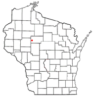 Location of Aurora, Taylor County, Wisconsin