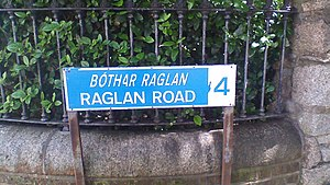 On Raglan Road - Raglan Road street sign-showing Dublin 4 post code