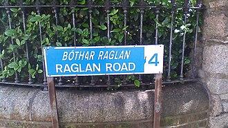 Raglan Road, Dublin - Raglan Road street sign-showing Dublin 4 post code