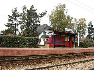 Kanie, Masovian Voivodeship - Image: WKD Kanie Helenowskie