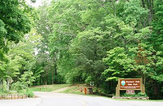 Warriors' Path State Park - The main entrance to Warriors' Path State Park.