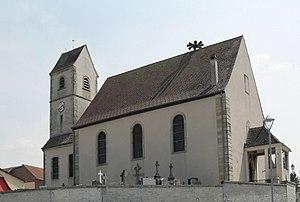 Wahlbach, Haut-Rhin - Image: Wahlbach, Eglise Saint Maurice et Saint Laurent