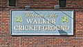 Walker Cricket Ground sign at Southgate Cricket Club, North London, England.jpg