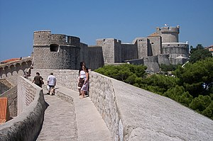 English: Walls of Dubrovnik (Croatia). Françai...