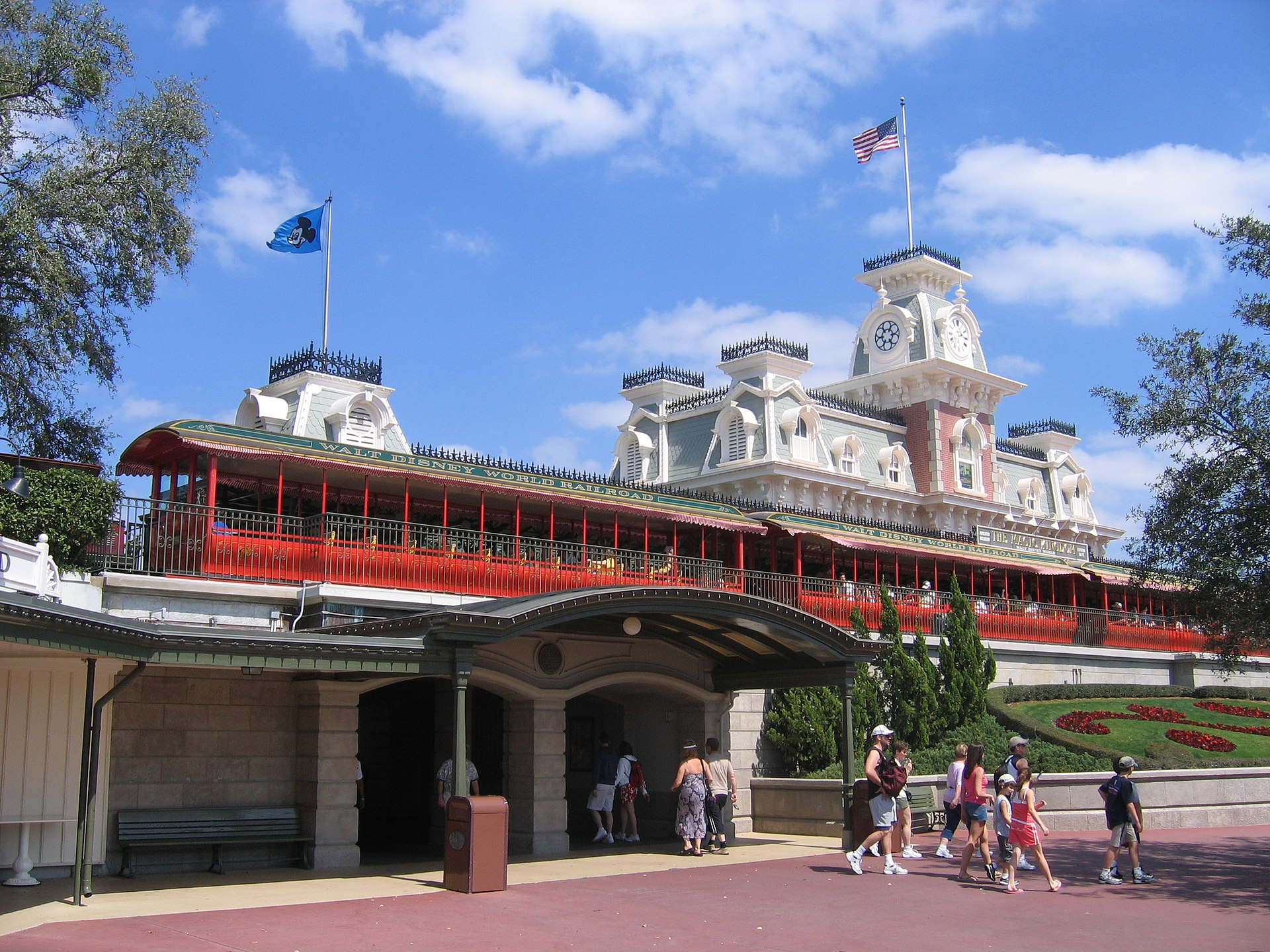 disney walt station world street railroad main usa kingdom magic wikipedia file commons disneyworld wikimedia resort places train pixels