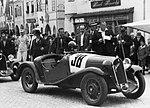 Walter Junior SS, Ivan Hodáč na startu v Telči (1934).jpg