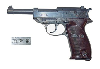 Walther P38 - P38 pistol manufactured by Mauser in 1943