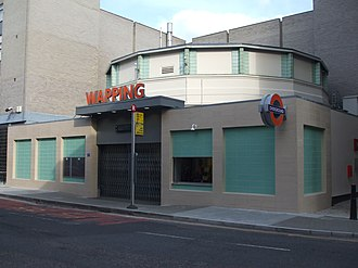 Wapping railway station - Image: Wapping station building pre open April 2010