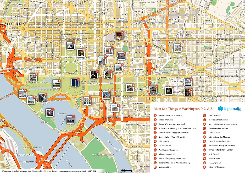 Smithsonian Washington Dc Map.File Washington Dc Printable Tourist Attractions Map Jpg Wikimedia