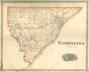 Washington Township, Warren County, Indiana - 1877 map of Washington Township