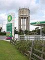 Water tower and service station near Malmesbury - geograph.org.uk - 2518452.jpg