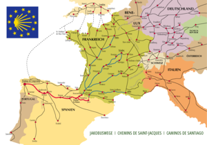 Vezelay France Map.Camino De Santiago Openstreetmap Wiki
