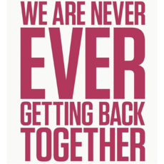 Logo del disco We Are Never Ever Getting Back Together